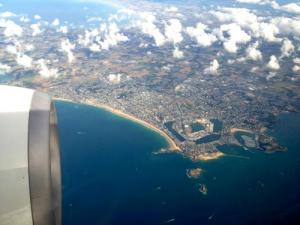 Saint-Malo: airplane view